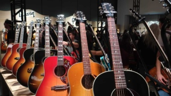 Gibson guitars exhibition at NAMM 2019